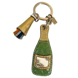 RARE Coach Champagne Bottle Keychain Bag Charm